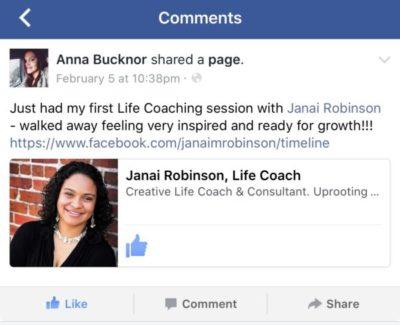 testimonial for Life Coach Janai Robinson